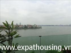 Modern, 3 Bedrooms, Service, Lake view Apartment  in Xuan Dieu ,Tay Ho, Ha Noi