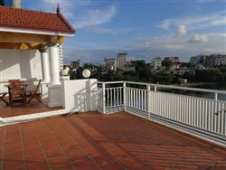 Spacious apartment in Tran Vu with big terrace views to Truc Bach lake