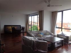 High quality 3 bedrooms serviced apartment for rent in Tay Ho (Fr)