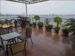 Apartment 3 bedrooms with large balcony and stunning west lake view for rent on Quang Khanh in Tay Ho, Hanoi